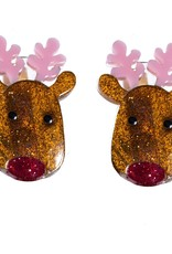 Lilies & Roses reindeer hairclips