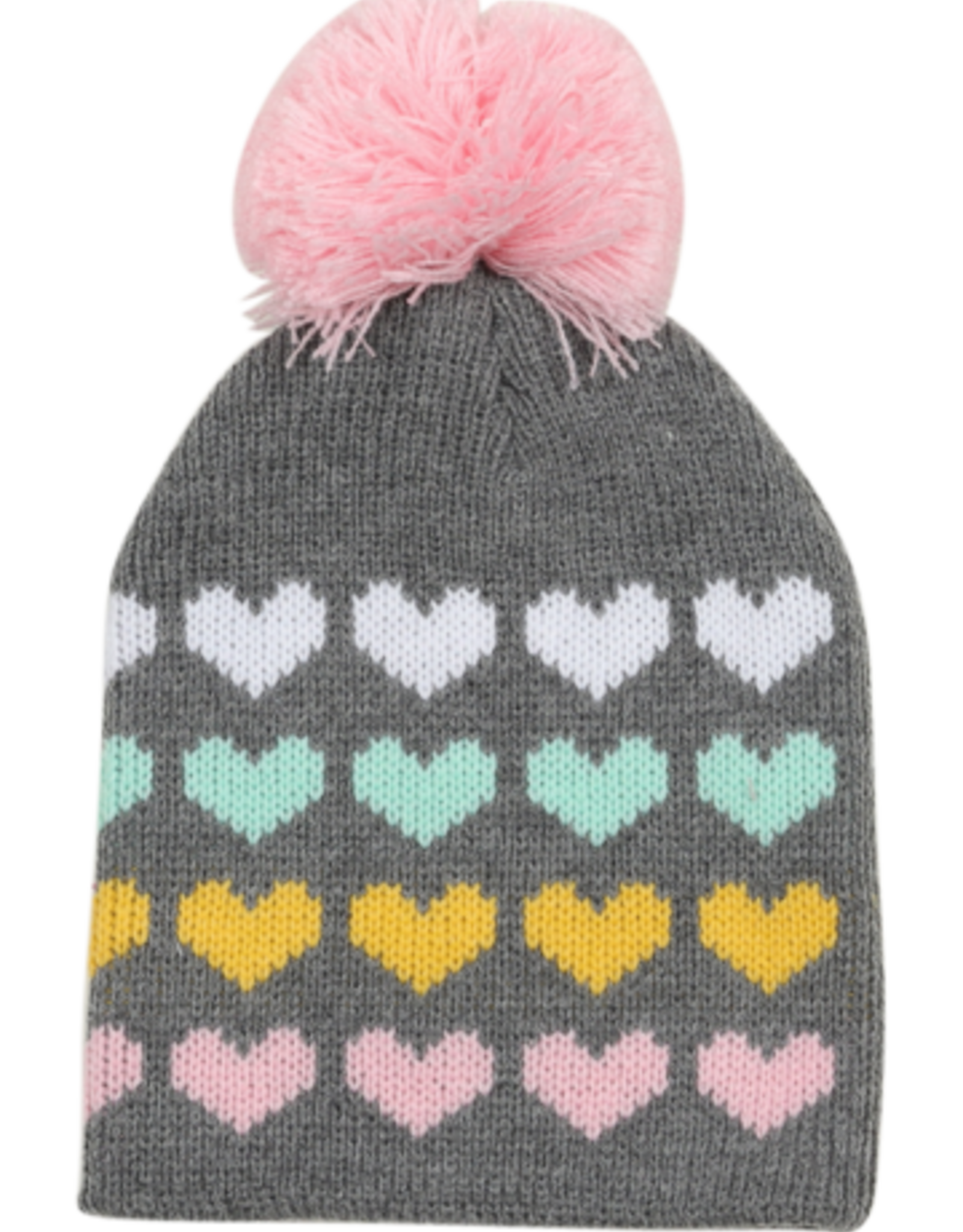 Tiny Whales heart stack beanie