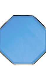 Meri Meri bright blue side plate