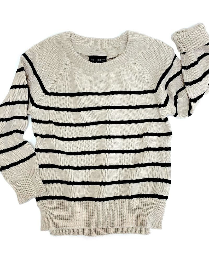 Little Bipsy Collection knit sweater- cream
