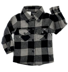 Little Bipsy Collection buffalo flannel- charcoal