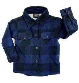 Little Bipsy Collection buffalo flannel- blue