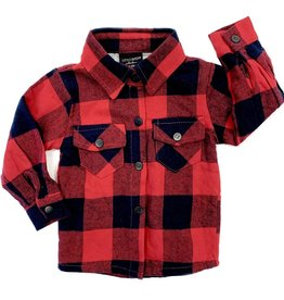 Little Bipsy Collection buffalo flannel- red