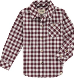 Me & Henry l/s button down- wine plaid
