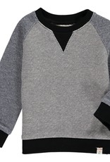 Me & Henry baby raglan sweatshirt- grey/blue