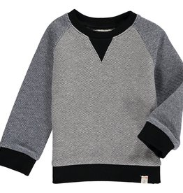 Me & Henry raglan sweatshirt- grey/blue