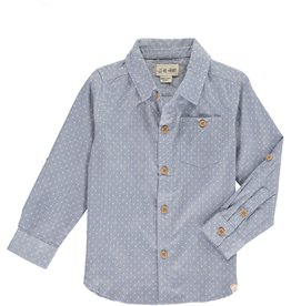 Me & Henry l/s button down- blue spot
