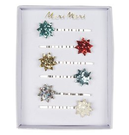 Meri Meri christmas glitter star hairclips