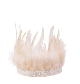 Meri Meri pink feather party crown
