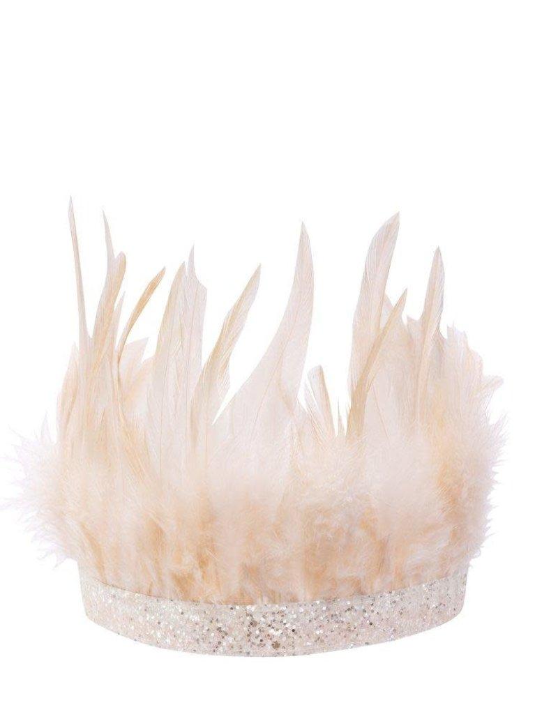 Meri Meri pink feather party crown