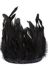 Meri Meri black feather crown