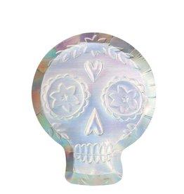 Meri Meri holographic sugar skull plates