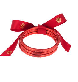 BuDhaGirl bangles (set of 3)- crimson
