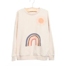 Siaomimi rainbow sweatshirt- ivory
