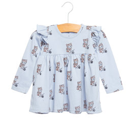 Siaomimi ruffle dress- sky cat