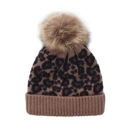 Siaomimi pom pom beanie- leopard
