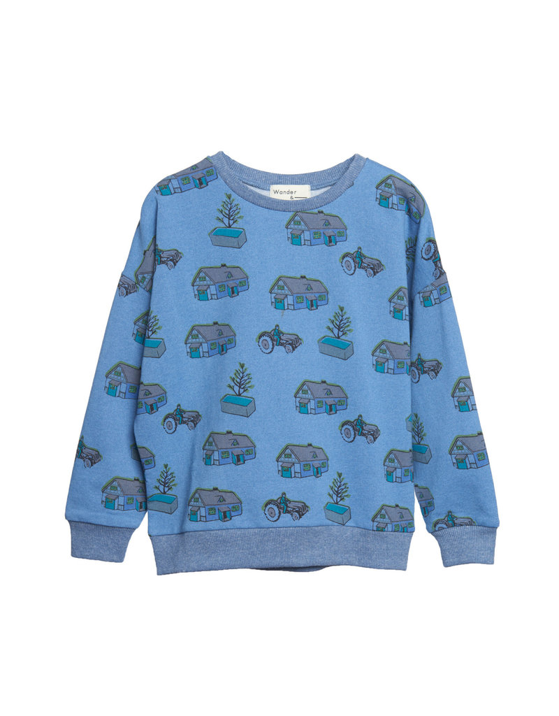 Wander & Wonder print sweatshirt- farm
