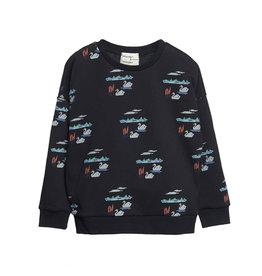 Wander & Wonder print sweatshirt- swan