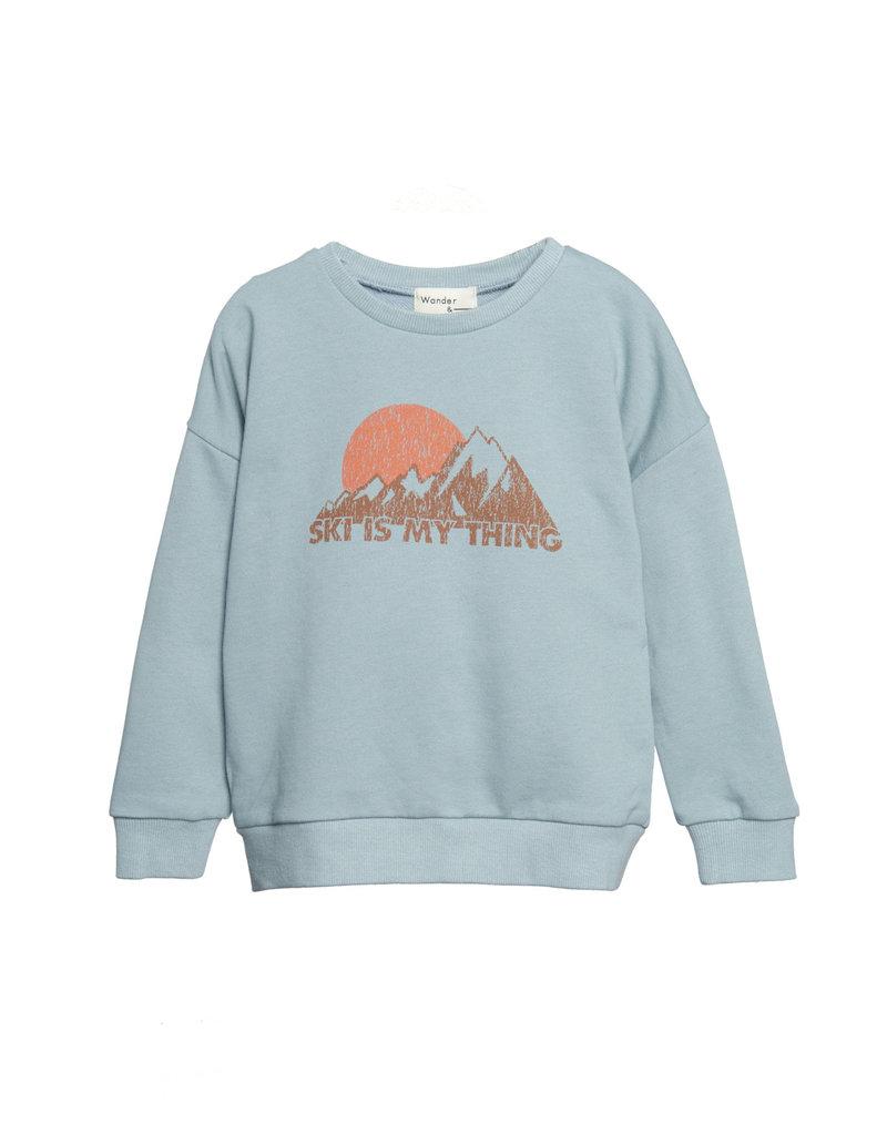 Wander & Wonder mountain sweatshirt