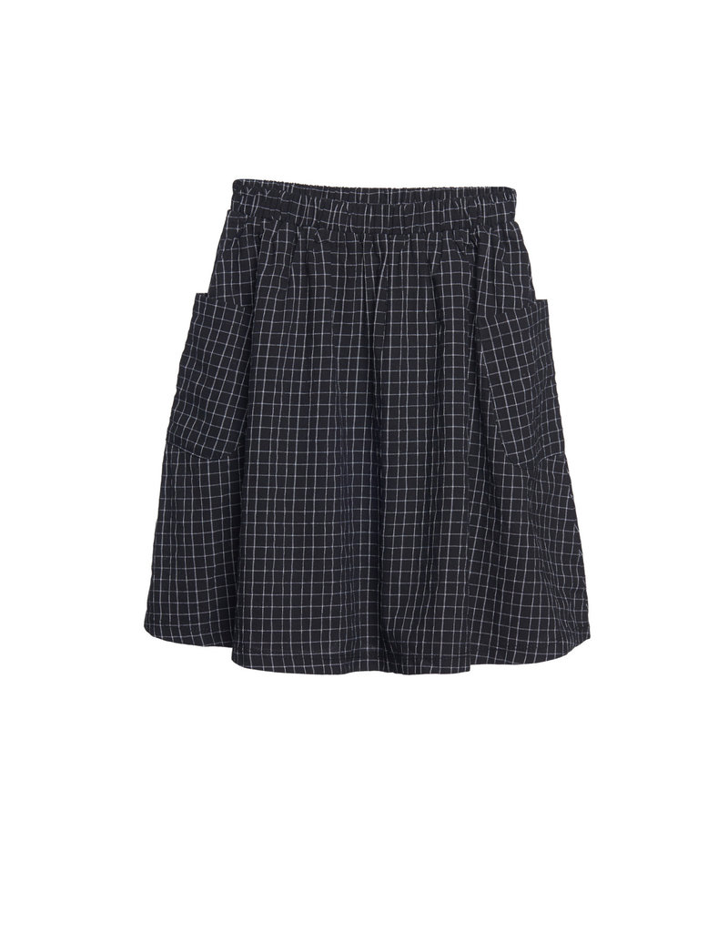 Wander & Wonder black check skirt