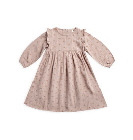 Rylee and Cru leaf embroidered piper dress