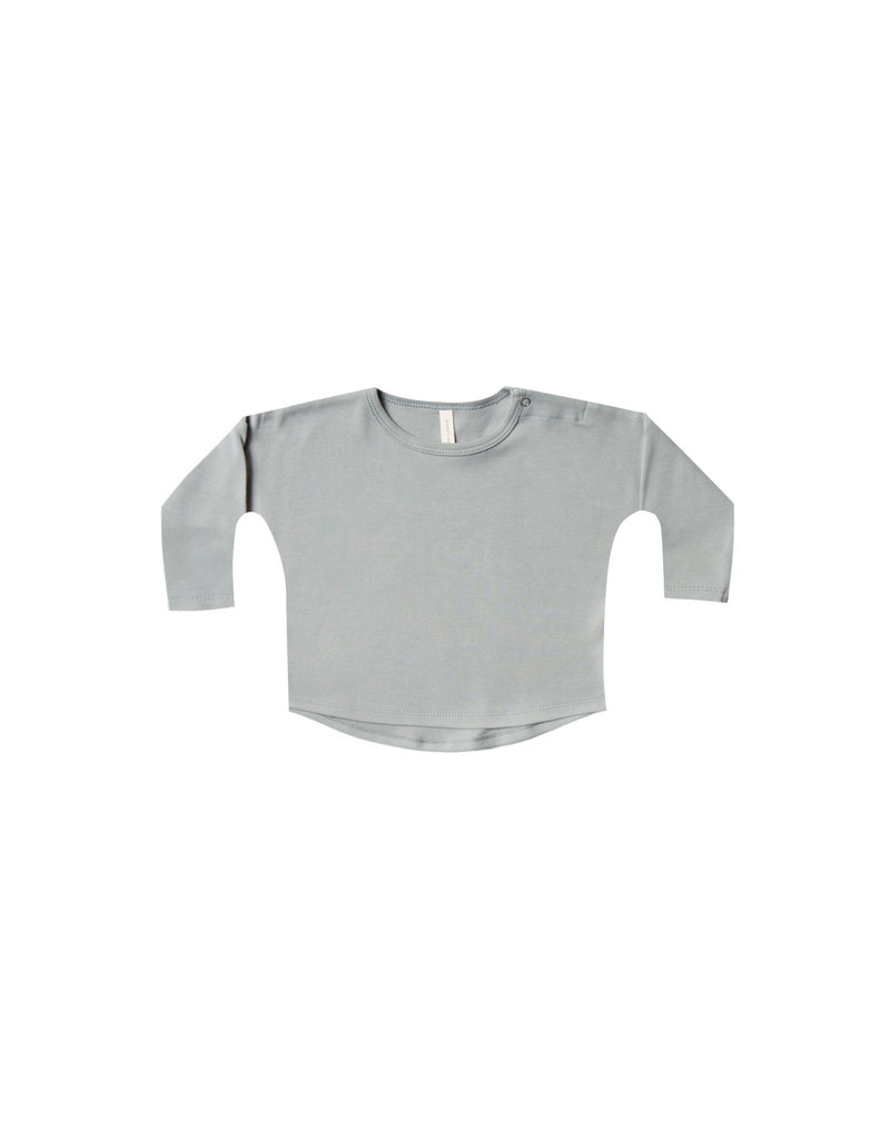 Quincy Mae l/s baby tee- dusty blue
