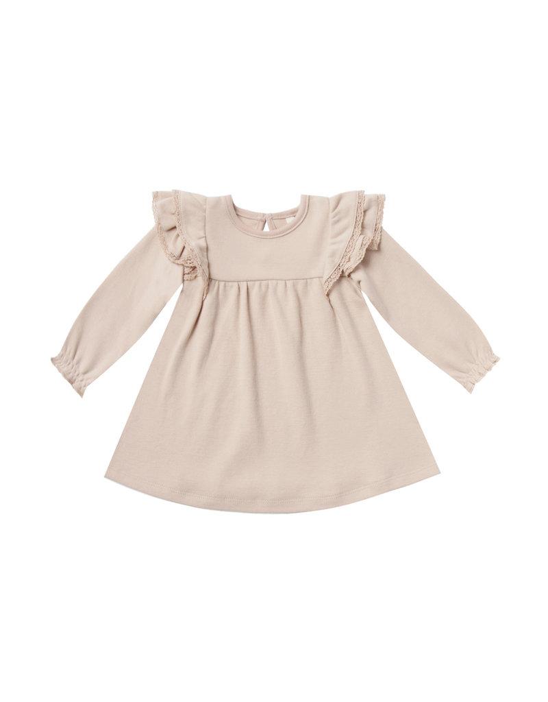 Quincy Mae flutter dress- rose