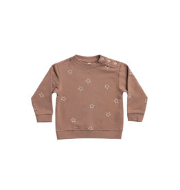 Quincy Mae fleece sweatshirt- clay