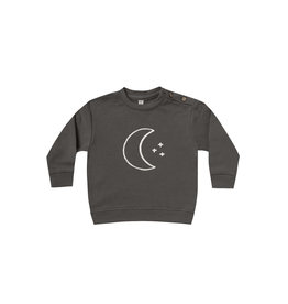 Quincy Mae fleece sweatshirt- coal