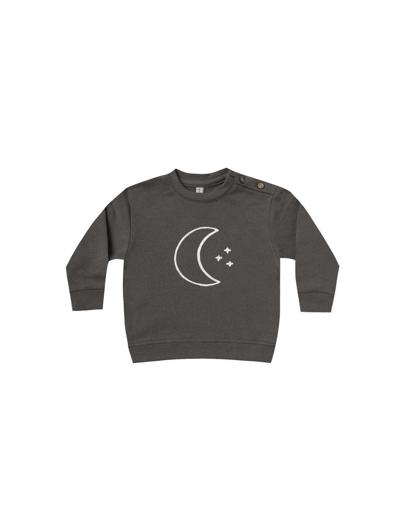 Quincy Mae fleece sweatshirt- coal