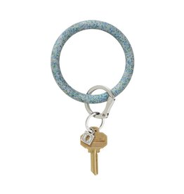 Big O Key Ring blue frost confetti silicone