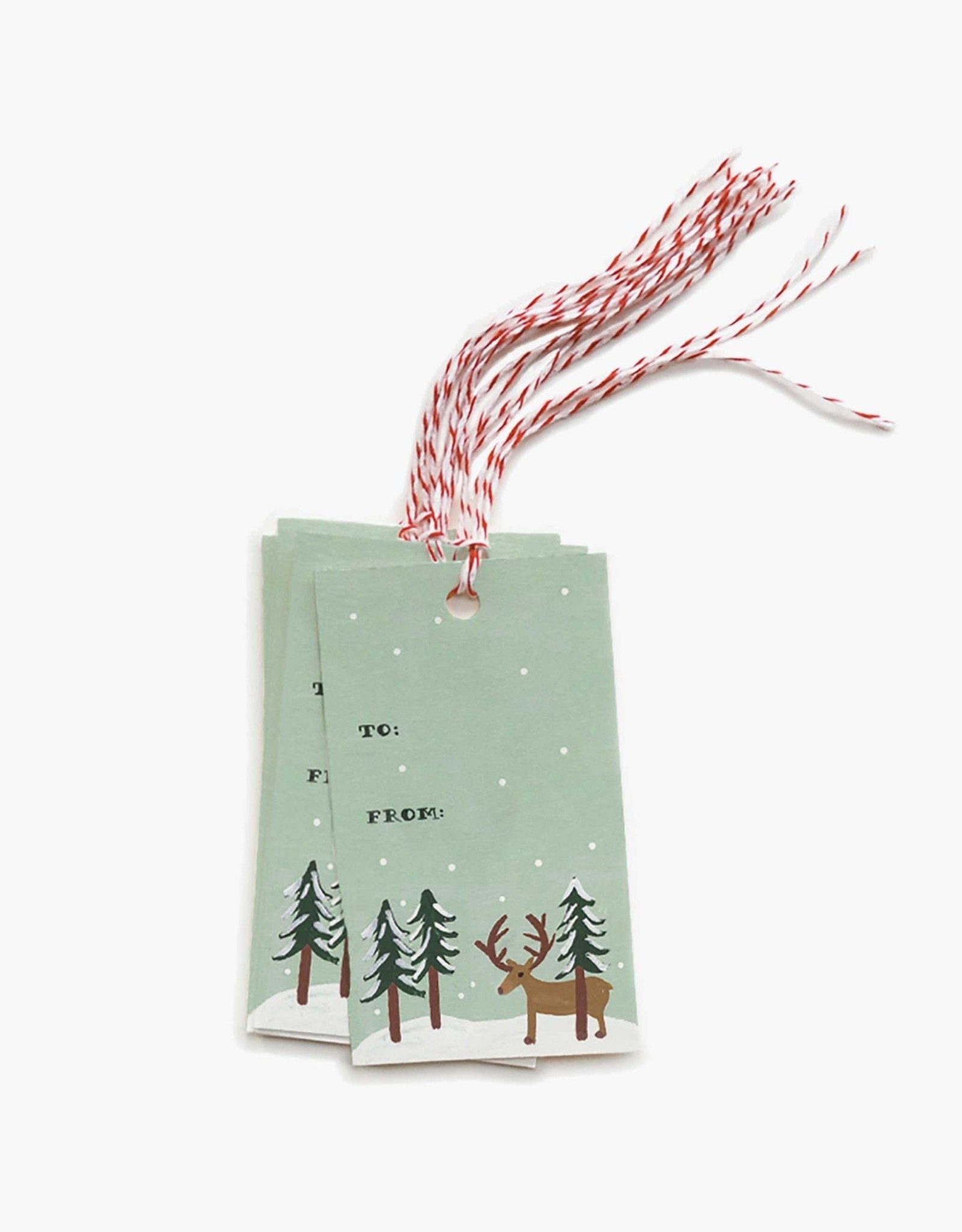 Rifle Paper Co. reindeer gift tags