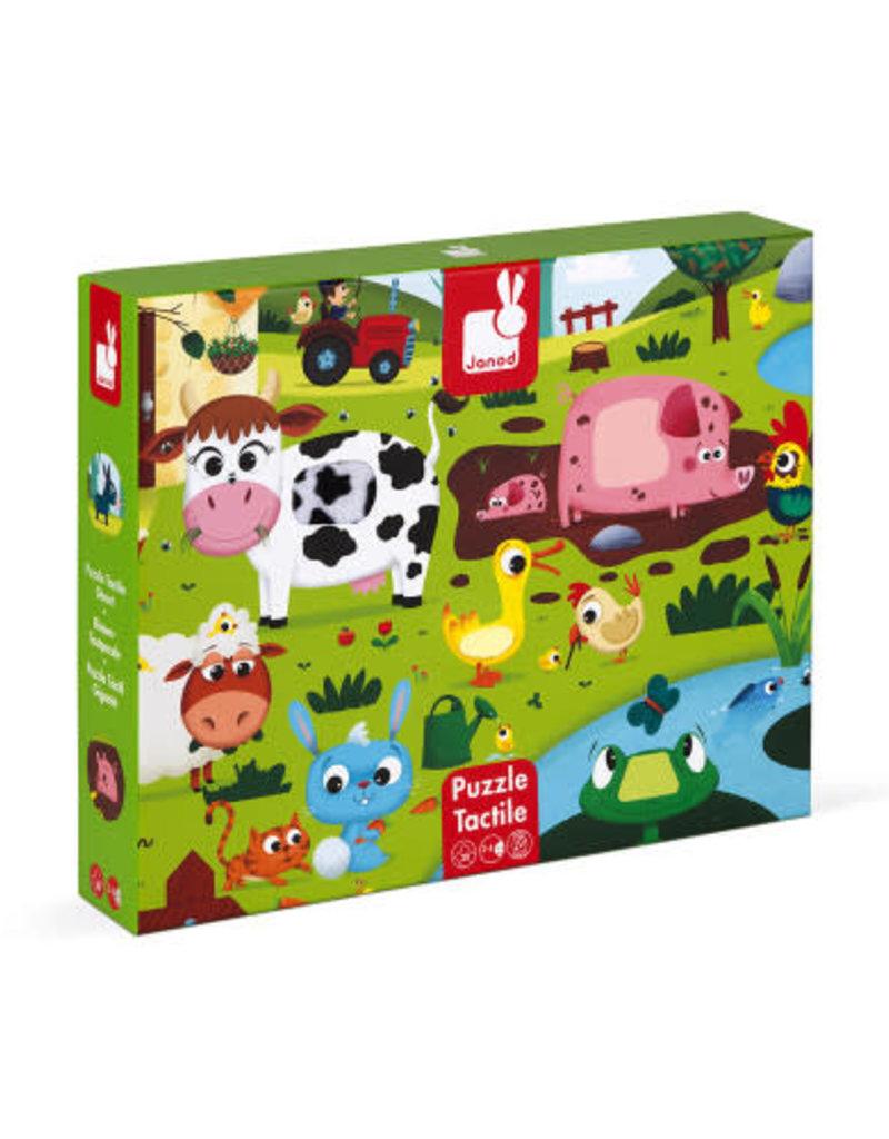 Janod farm animals tactile puzzle