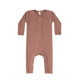 Quincy Mae ribbed jumpsuit- clay