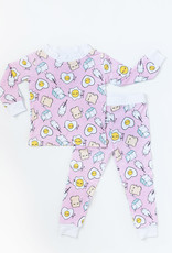 Little Sleepies pink breakfast pajamas