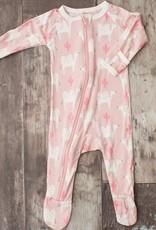 Bestaroo footie- pink camels