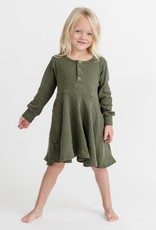 Little Bipsy Collection ribbed dress- hunter