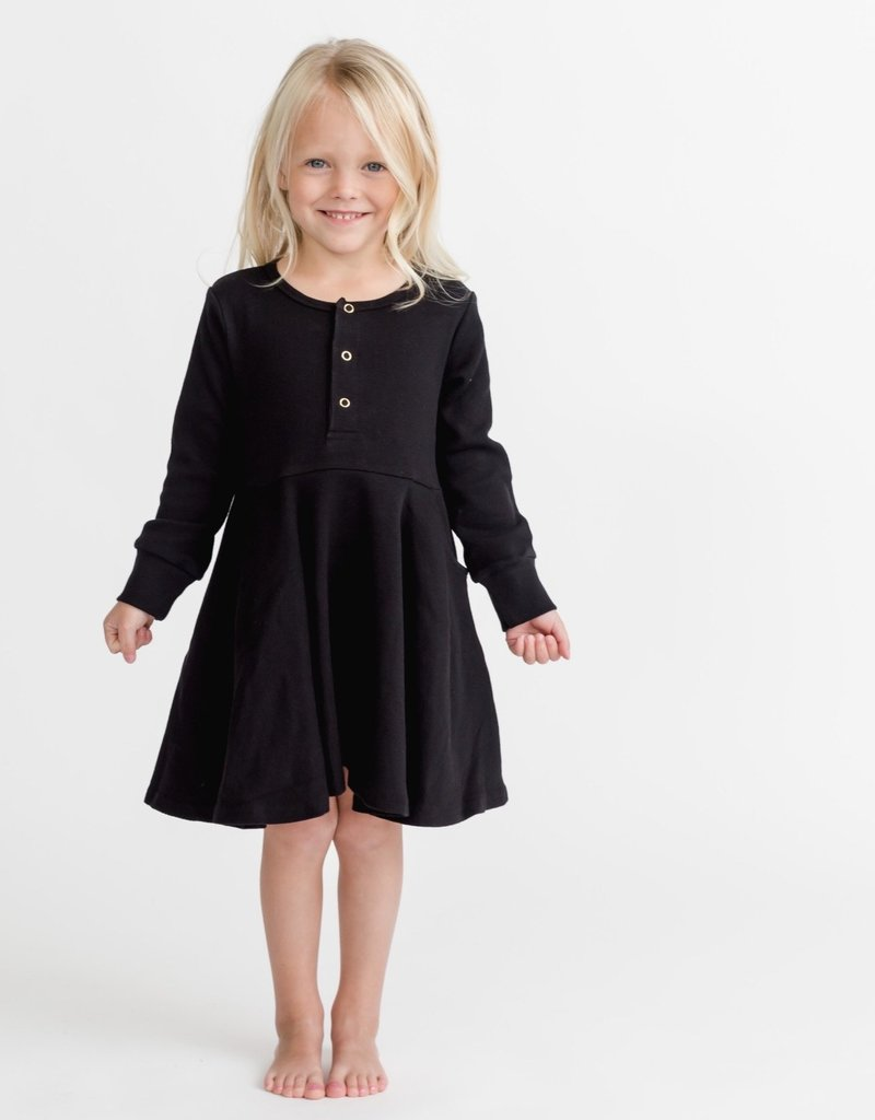 Little Bipsy Collection ribbed dress- black