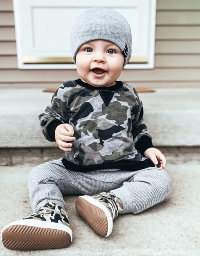 Little Bipsy Collection knit beanie- grey