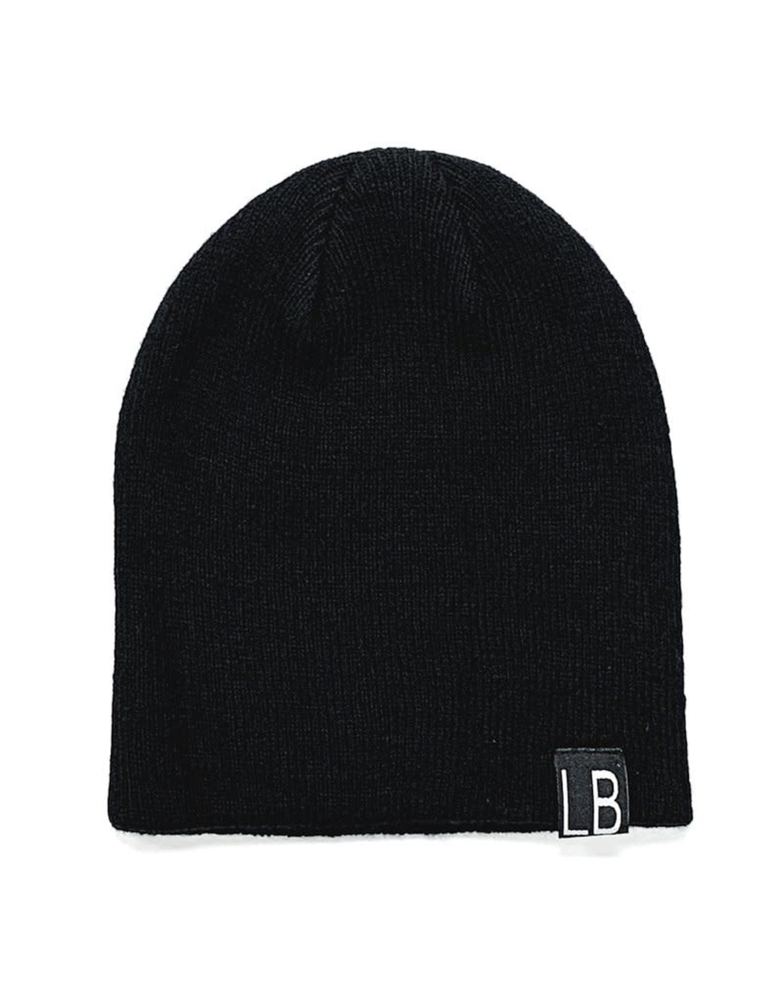 Little Bipsy Collection knit beanie- black