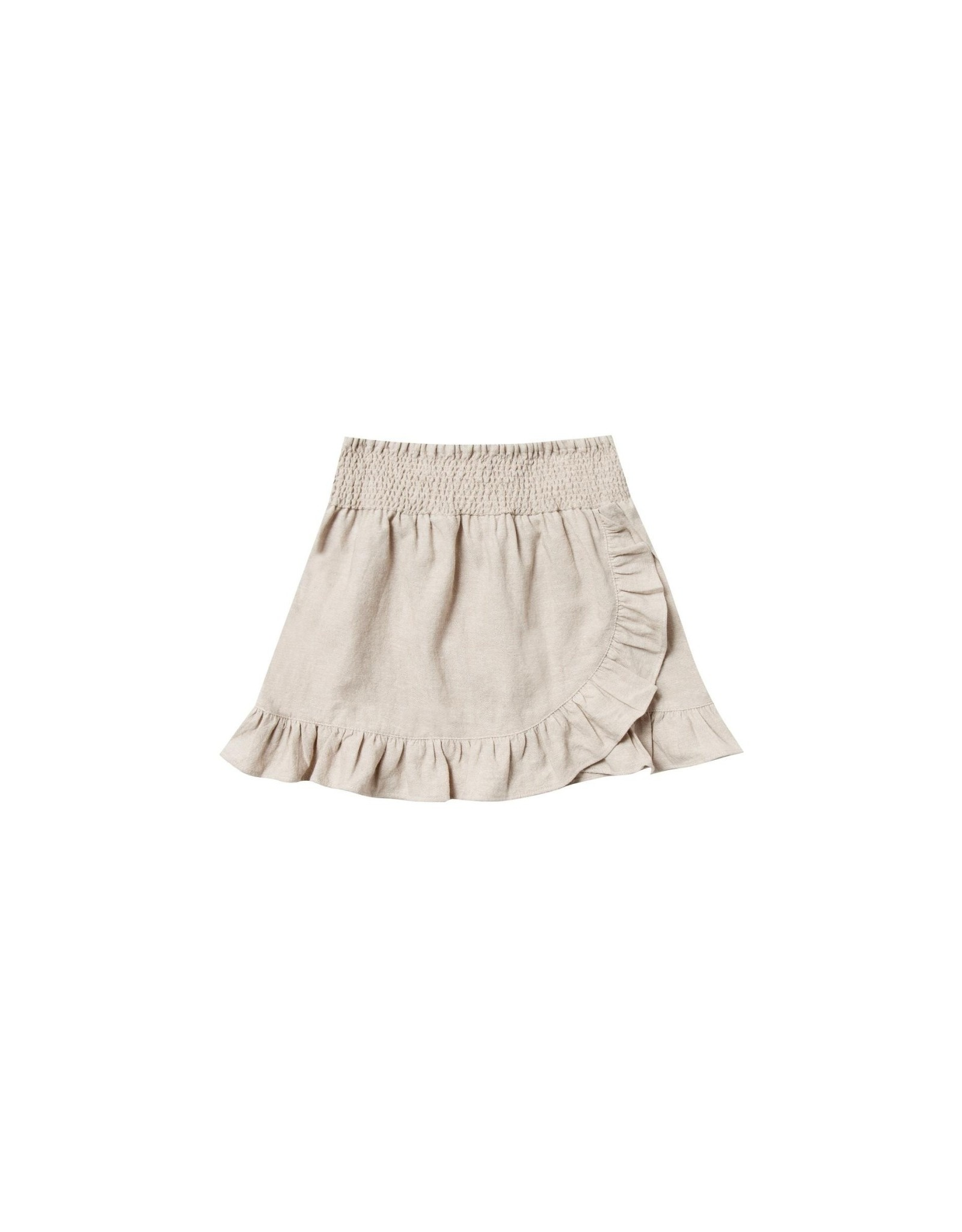 Rylee and Cru flora wrap skirt- flax