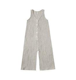 Rylee and Cru stripe bridgette jumpsuit- olive