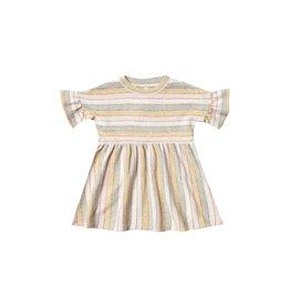Rylee and Cru stripe babydoll dress