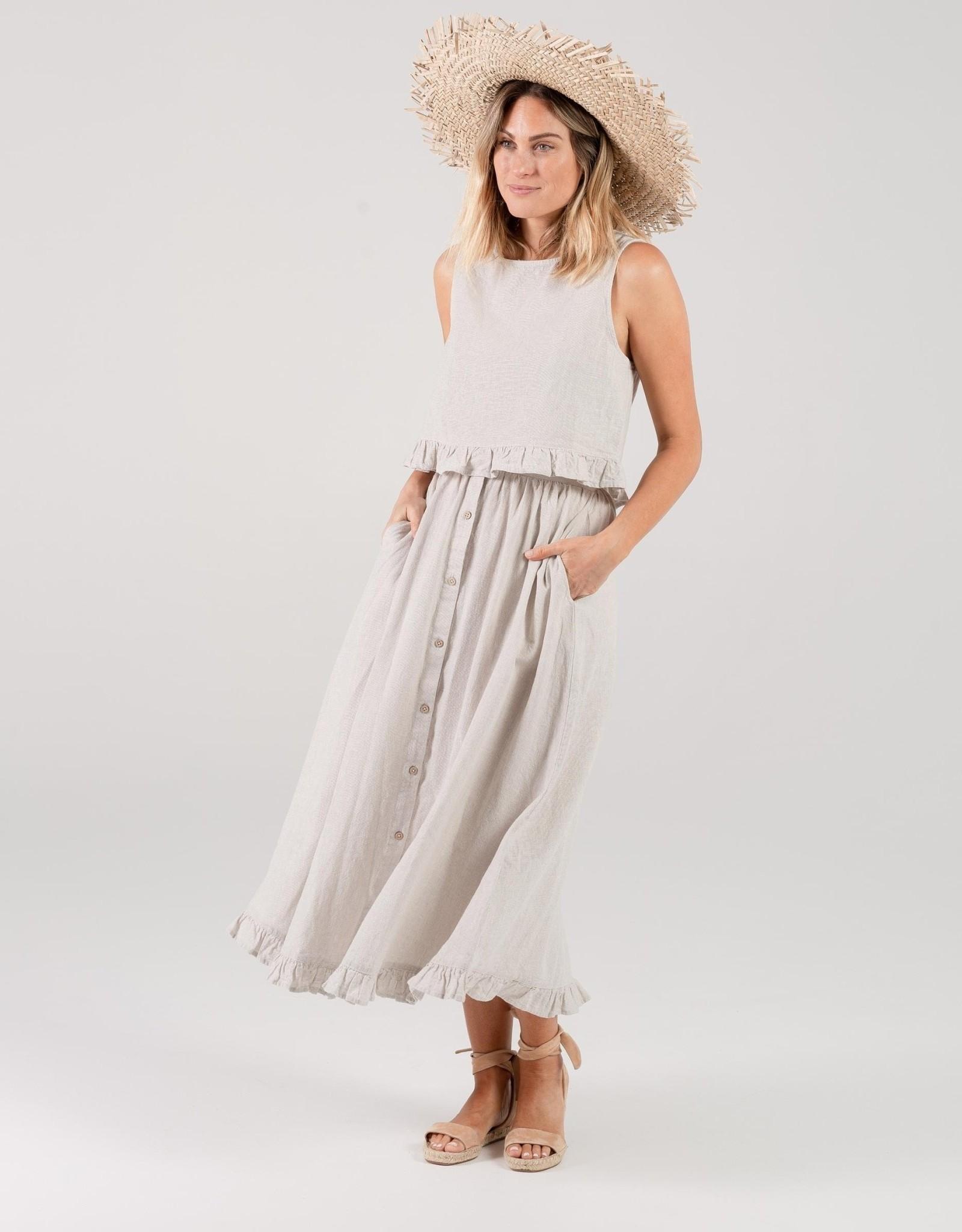 Rylee and Cru oceanside skirt- silver