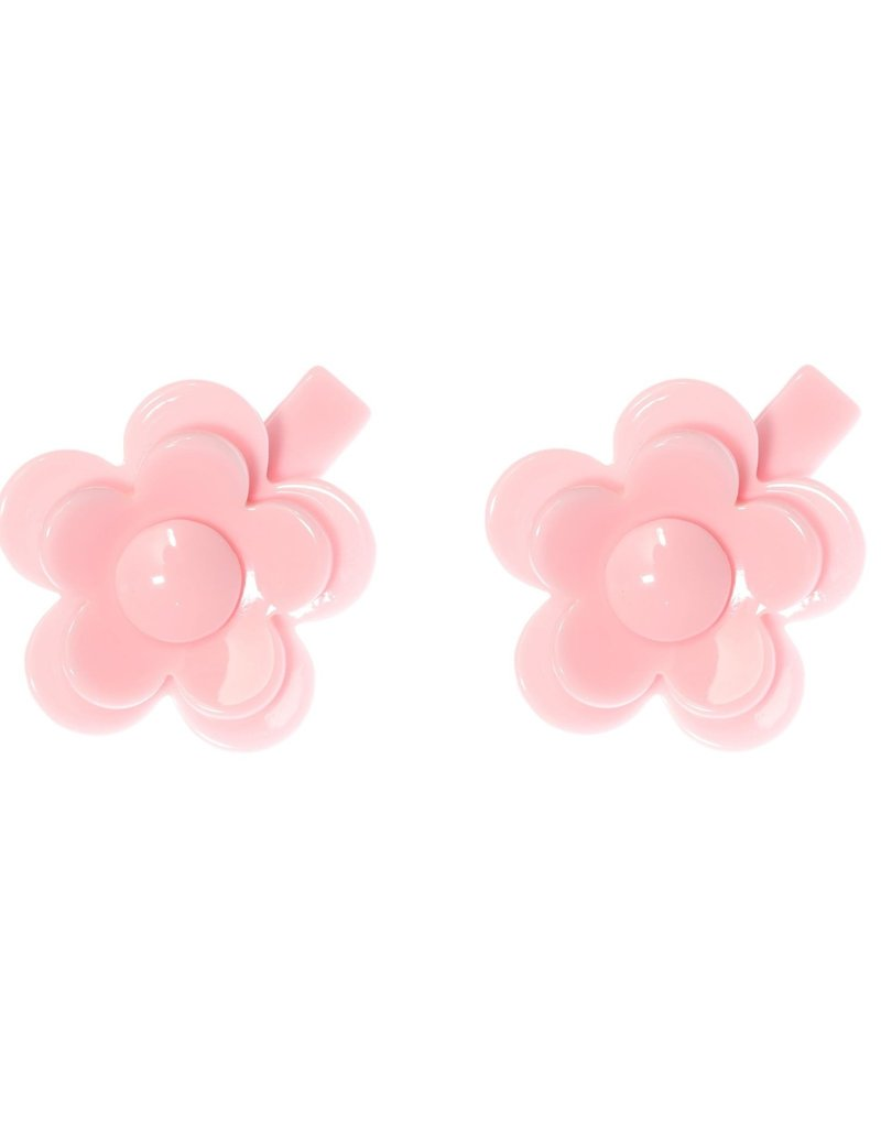 Lilies & Roses camellia flower clips- lt pink