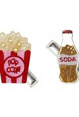 Lilies & Roses popcorn & soda hairclips