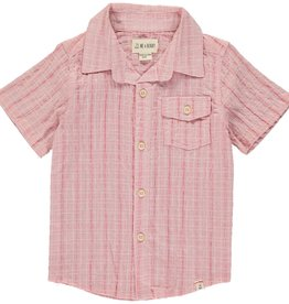 Me & Henry ss button down- pale red