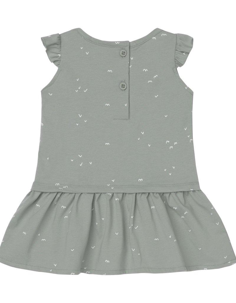 BabyClic delta dress set- green