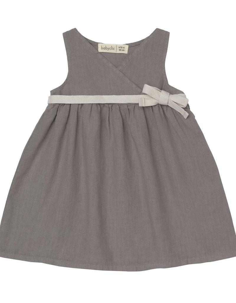 BabyClic lea dress set- grey