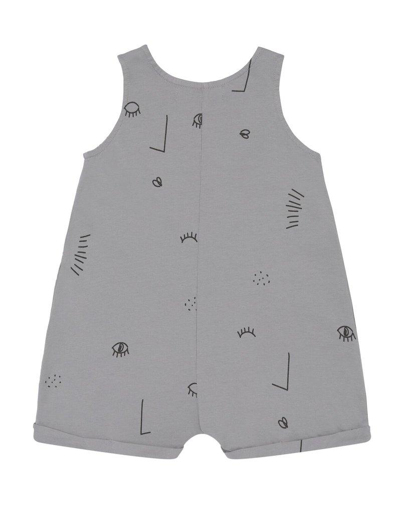 BabyClic twin playsuit- grey